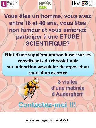 Nous recherchons des volontaires pour une étude sur le chocolat !!!!